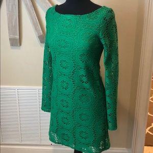 Judith March green knit detail dress
